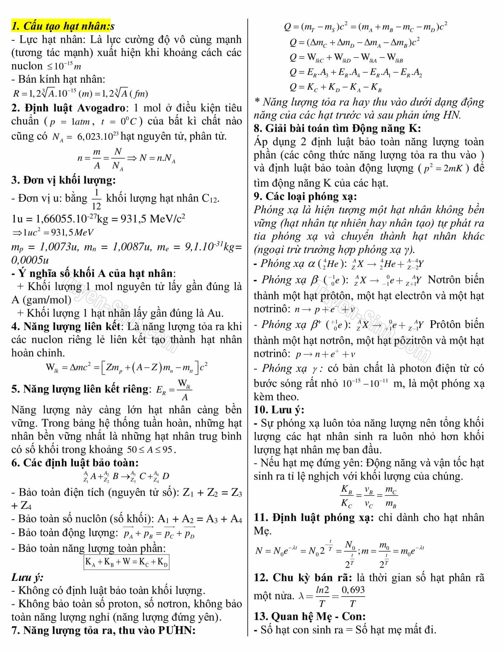 cách nhớ công thức vật lý 12