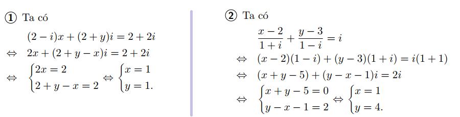 giải phương trình trên tập số phức