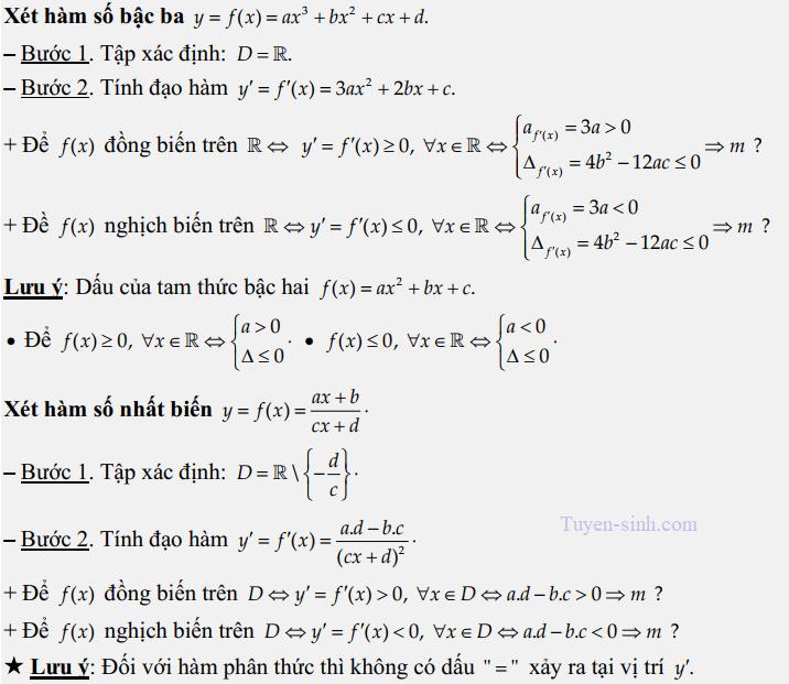 tìm khoảng đơn điệu của hàm số