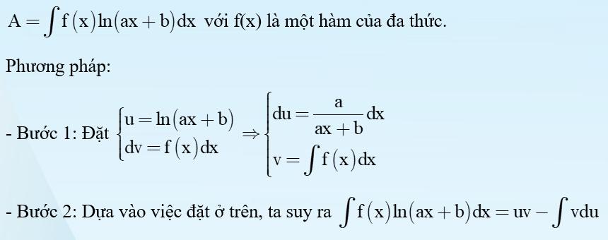 nguyên hàm từng phần logarit